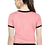 Thumbnail: Party Cap Sleeve Solid Women Pink T Shrit