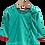 Thumbnail: Stylish Cotton Green Front Open Full Sleeve Infant Dhoti With Kurta For Boys