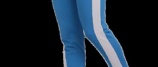 Men's Blue Cotton Spandex Self Pattern Regular Fit Track Pant