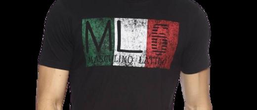 Men's Black Printed Cotton Round Neck T Shirt