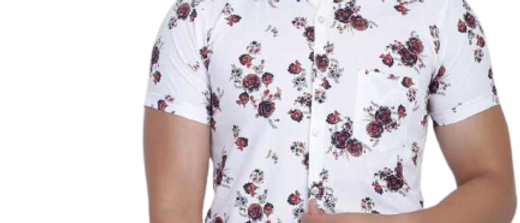 Stunning White Polycotton Printed Casual Shirts For Men