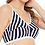Thumbnail: Clovia Non-Padded Non-Wired Full Cup Striped Bra in Navy Cotton