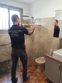 finition salle de bain