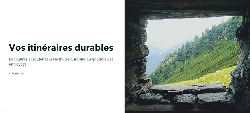 itineraire durable