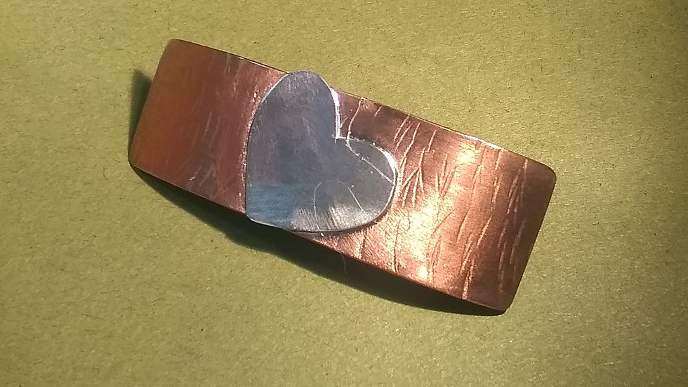Copper & Sterling Barrette