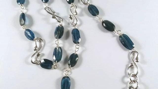 Blue Kyanite & Sterling Necklace
