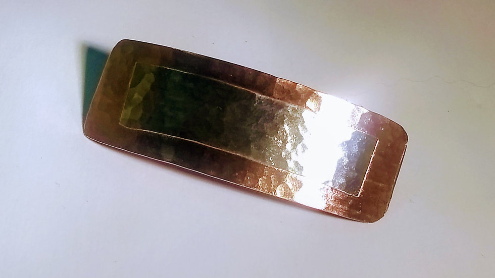 Copper & Fine Silver Barrette
