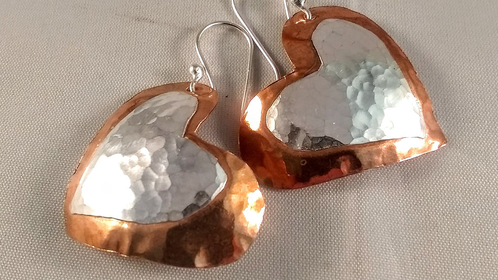Copper & Sterling Hearts