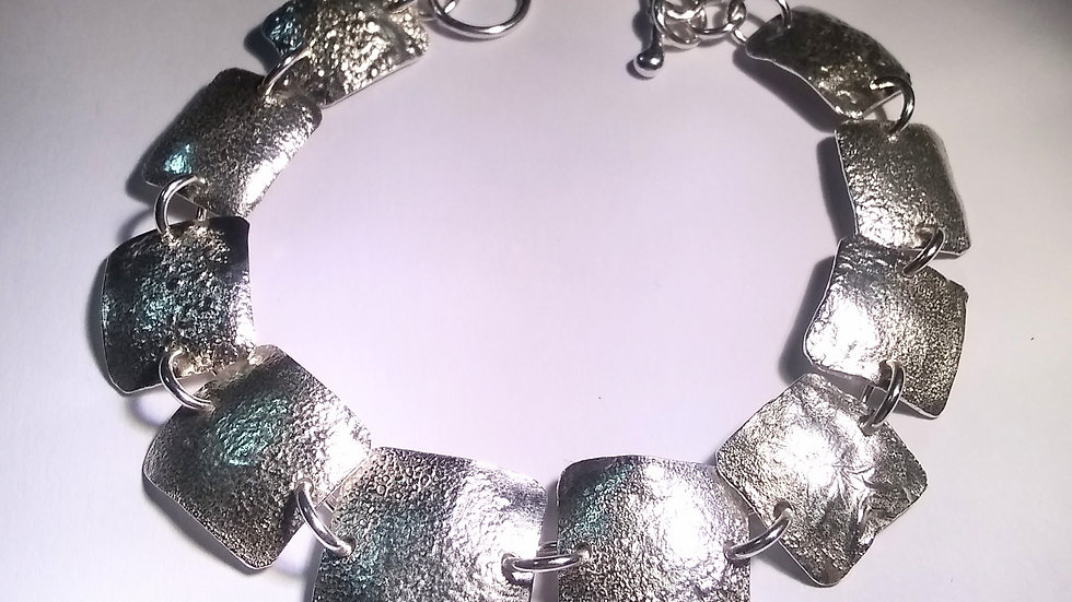 Reticulated Sterling Silver Bracelet