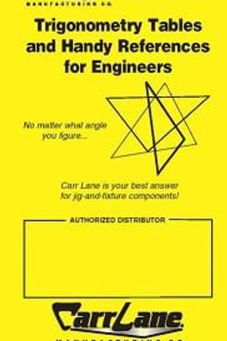 Carr Lane Trigonometry Tables and Handy References for Engineers