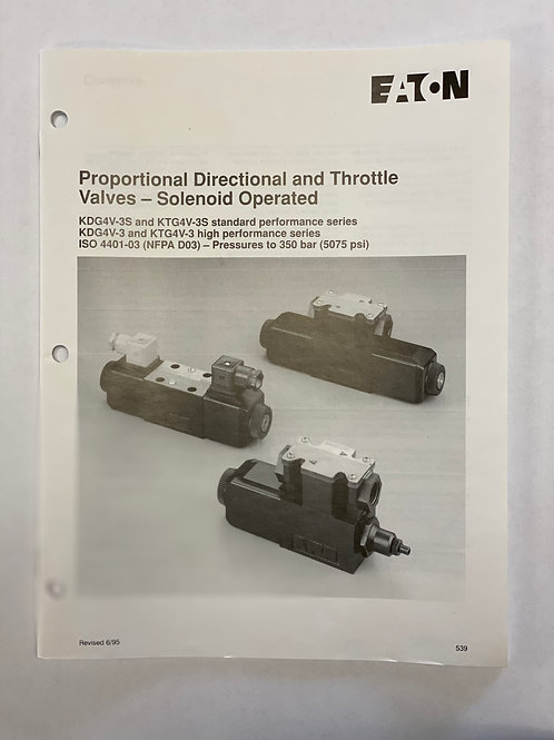 Eaton Proportional, Directional, and Throttle Valves - Solenoid Operated