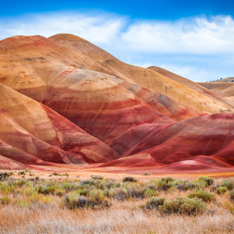 Colorful clay hills in the Painted Hills