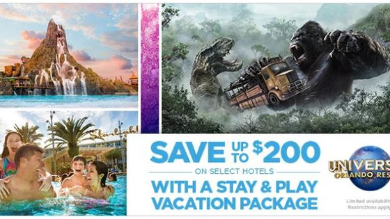 Universal Parks & Resorts - Stay and Play Promotion