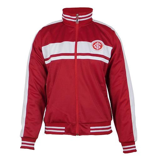 R. INT514F Casaco Inter Vermelho e Branco Feminino Jaqueta Internacional