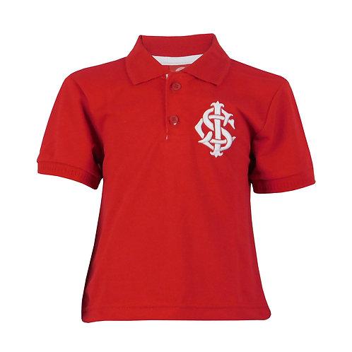 R.INT452J Camisa Polo Juvenil Vermelha Lançamento Inter RS Gola Polo