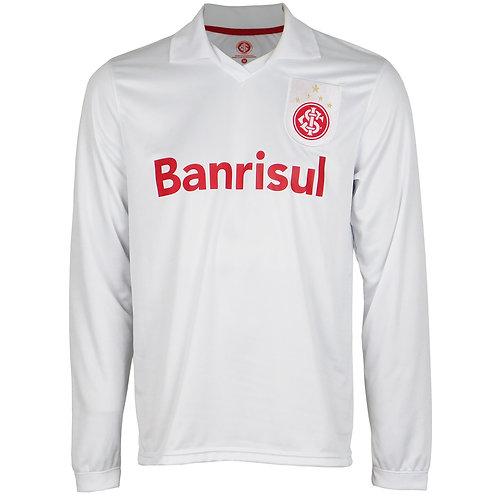 R.INT508 Camisa Retrô Mundial Branca Iarley Manga Longa Inter N°10