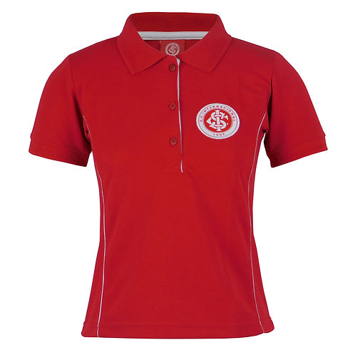 R.INT421F Polo Feminina Vermelha Do Internacional Gola Polo Do Inter