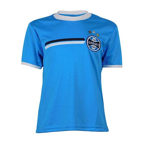 R.G611I Camisa do Grêmio Infantil Azul Claro em Dry Grêmio Licenciada