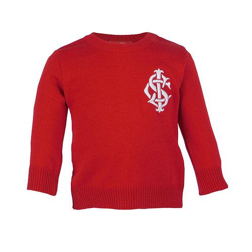 R.INT472B Casaco Suéter Inter Blusa Bebê Vermelho Internacional Criança