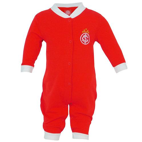 R.INT5451B Macacão Inter Vermelho Bebê Recém Nascido Internacional Bebê