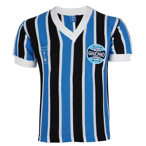 R.GLIB Camisa Retrô Grêmio Libertadores Tricolor Ano 1983