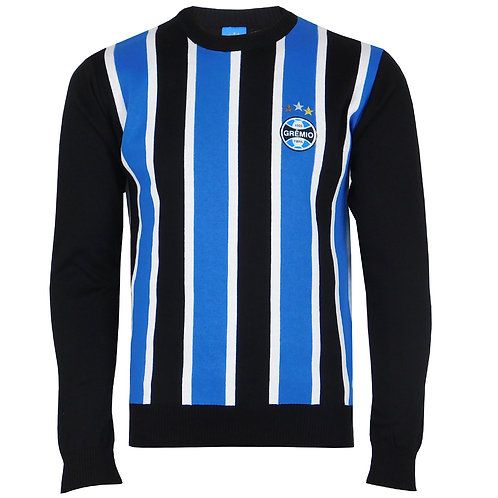 R.G557 Casaco Blusão Do Grêmio Masculino Tricolor Com Preto