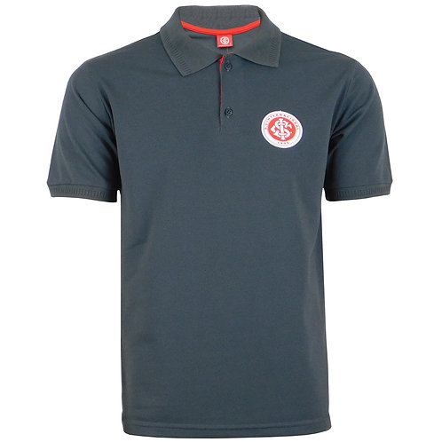 R.INT447 Camisa Gola Polo Cinza Do Inter Clube Internacional Gola Polo