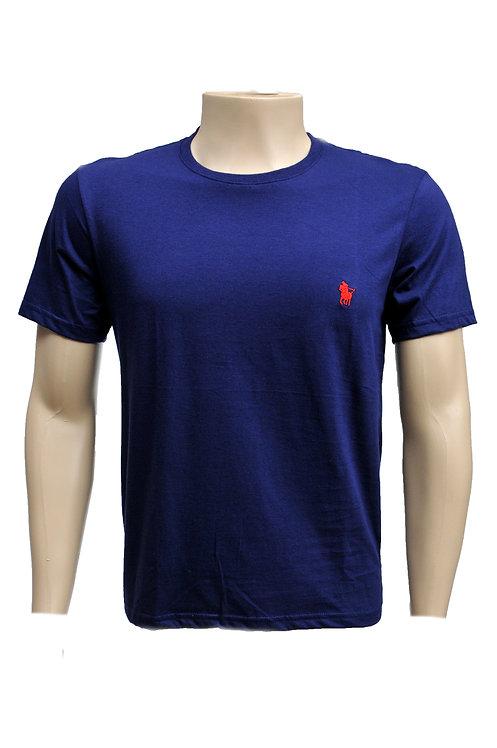 R. 210121 Camiseta Masculina Casual Básica Azul Marinha Polo Clássica