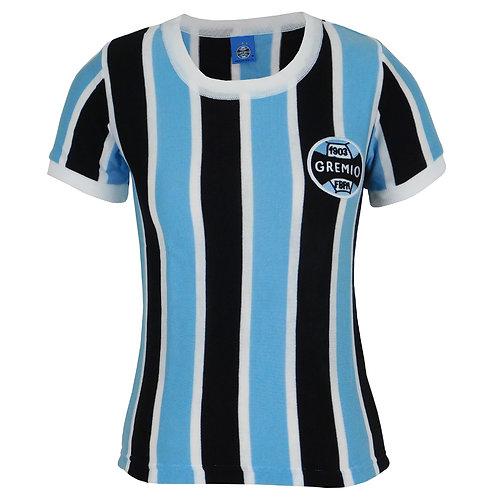 R.G654F Baby Look Grêmio Retrô N° 3 Tricolor
