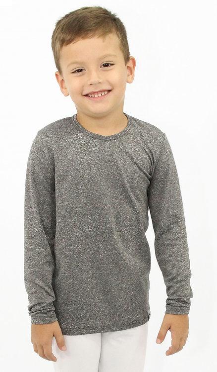 R.9442C Camiseta Térmica Infantil Com Fleece Manga Longa com Elastano Mescla