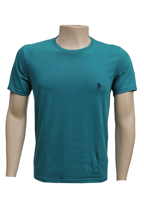 R. 210122 Camiseta Masculina Casual Básica Verde Polo Clássica