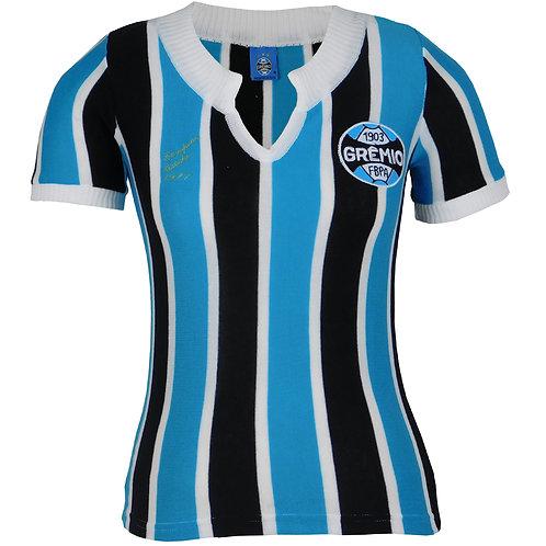 R.G35F Baby Look Feminina Grêmio Tricolor Retrô 1977