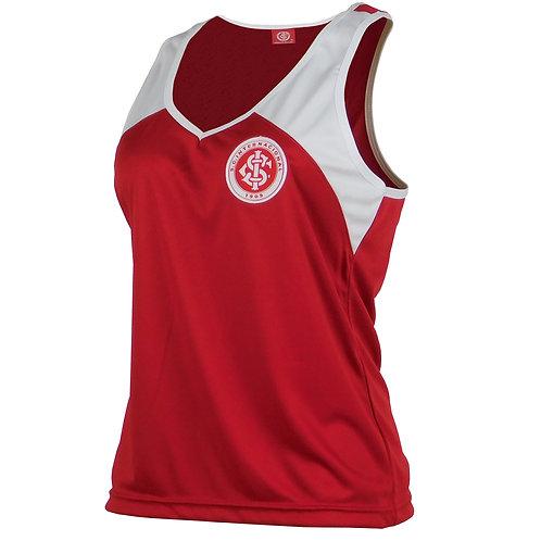 R. INT506 Regata Inter Feminina Em Dry Vermelha Original Internacional
