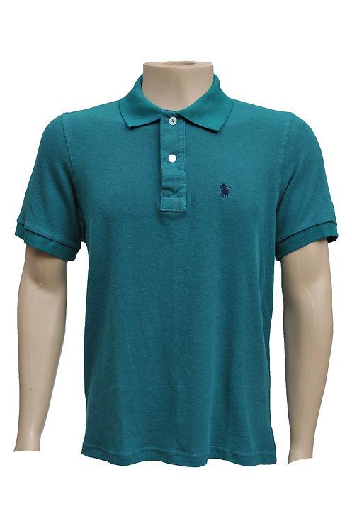 R. 200122 Camisa Gola Polo Masculina Verde Polo Clássica