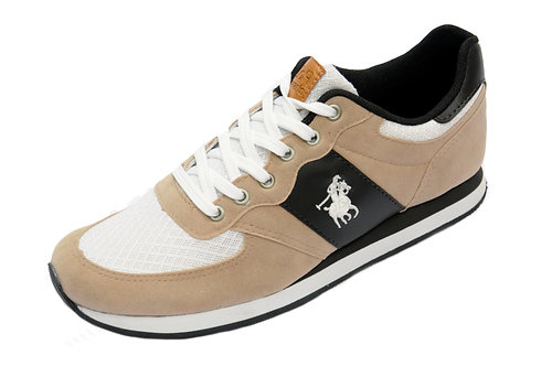 R. 1817050 Tênis Jogging Caminhada Corrida Academia Original Polo Bege