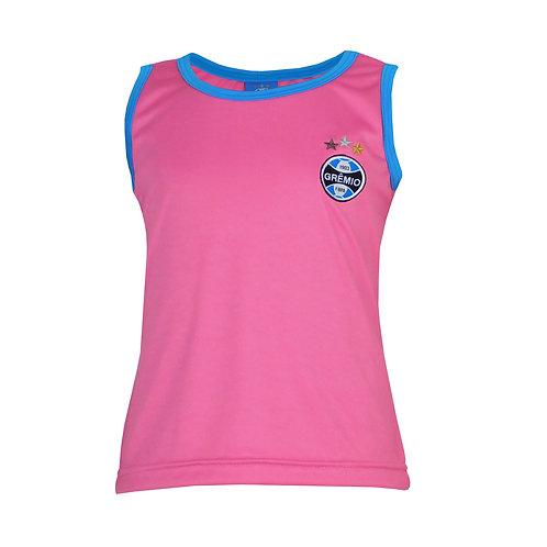 R. G644i Regata do Grêmio Rosa Em Dry Camiseta Infantil Rosa Para Criança