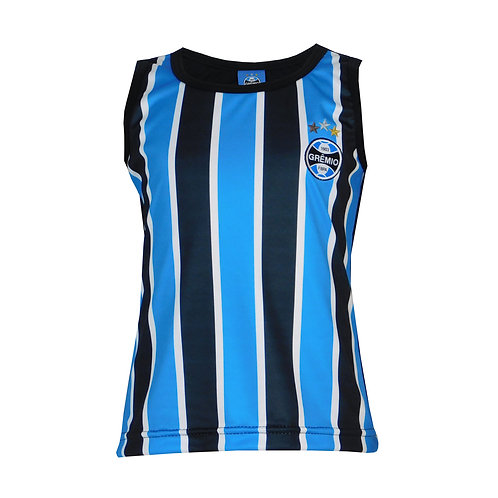 R. G646J Regata Juvenil Grêmio Feminina Tricolor Regatinha Do Grêmio