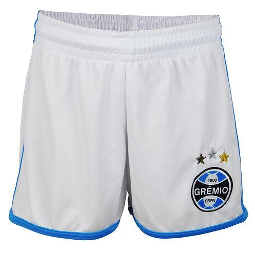 R.G63102 Bermuda de Jogo Futebol Grêmio Dry Calção Grêmio Branco