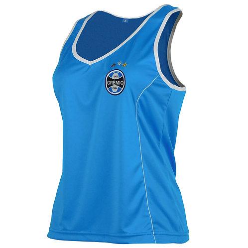 R. G643 Regata Feminina Grêmio Azul Dry Camiseta Regata Azul Grêmio