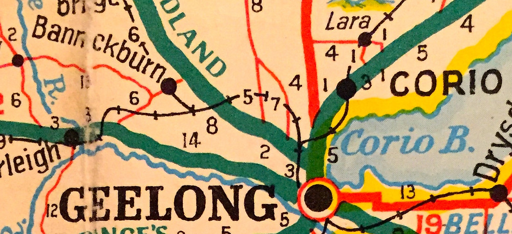 MELTON, BANNOCKBURN, GEELONG, CORIO, LARA.  I DON'T THINK I'M EVER GONNA GET TO THAT LAST ALTONA ONE!