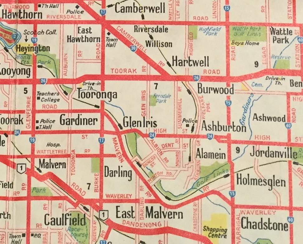 HAWTHORN, CAMBERWELL, BALWYN, ASHBURTON, CHADSTONE