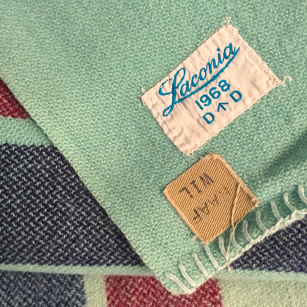 THE BLANKETS:  RAAF 1968 LACONIA.  SUCH AN UNEXPECTED FIND, HIDING IN THE CORNER ROLLED UP LOOKING LIKE NOTHING AT ALL :)