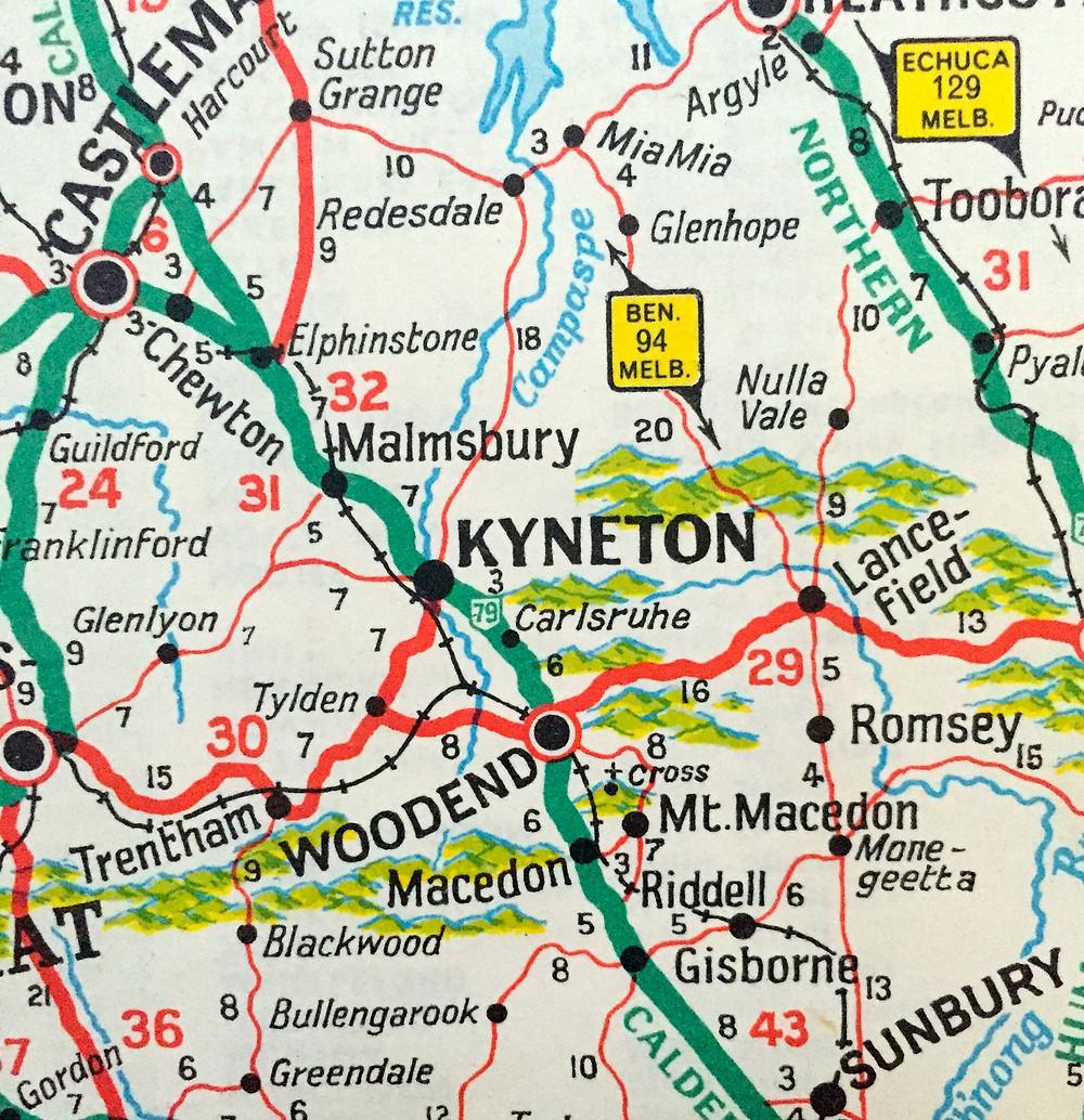 CASTLEMAINE, KYNETON, WOODEND, GISBORNE, SUNBURY