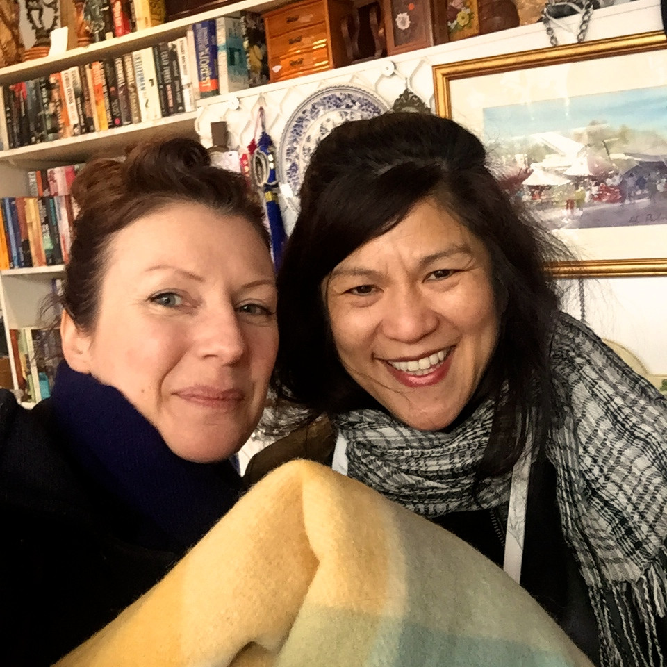 THE BONUS:  THE LOVELY ADA AT MISSION OP SHOP IN BLACKBURN HELPING ME FIND THE PHYSICIAN BLANKET.  THANKS ADA!  AND THE SWEET GENTLEMEN AT THE UNITING OP SHOP IN FOREST HILL THAT OPENED FOR ME TODAY, THANKS FELLAS :)