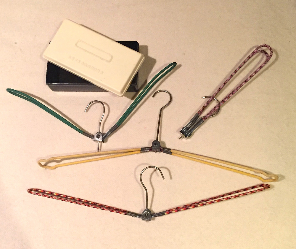 I LOVE LOVE THESE TRAVEL COAT HANGERS AND THIS ACCESSORIES BOX