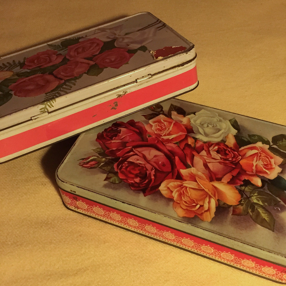 THE BEAUTY:  I CAN'T HELP KEEP BUYING THESE ROSE TINS.