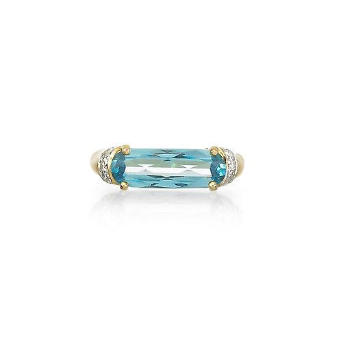 """Adante"" Blue Topaz Ring"