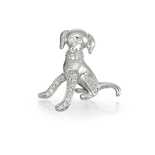 """""""Barkley"""" Diamond Doggie Charm"""