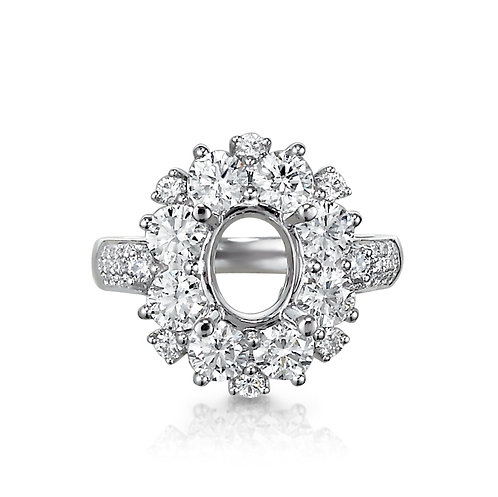 """Royal Halo"" Diamond Setting"