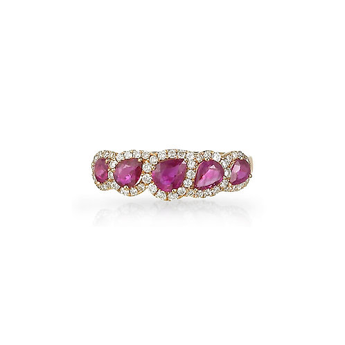 """""""Salome"""" Ruby Ring"""